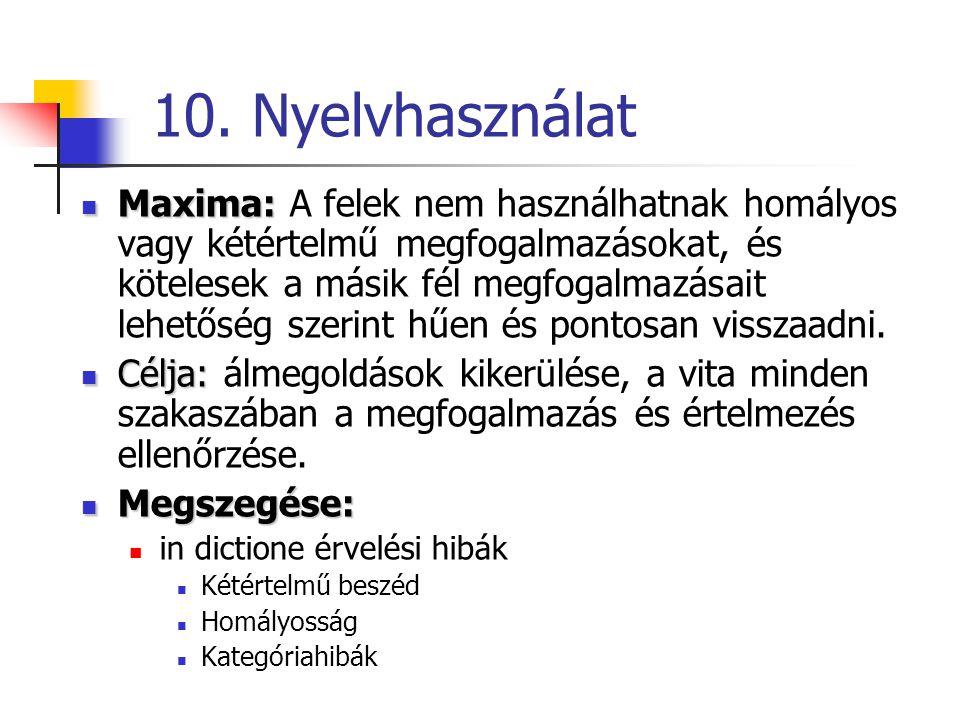 10. Nyelvhasználat