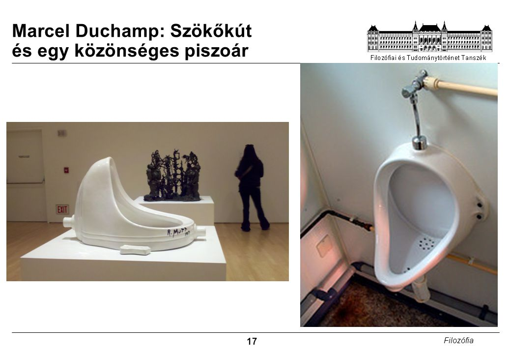 Marcel Duchamp: Szökőkút és egy közönséges piszoár