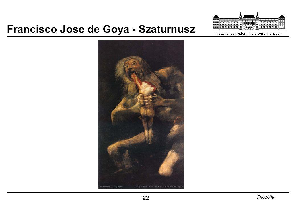 Francisco Jose de Goya - Szaturnusz