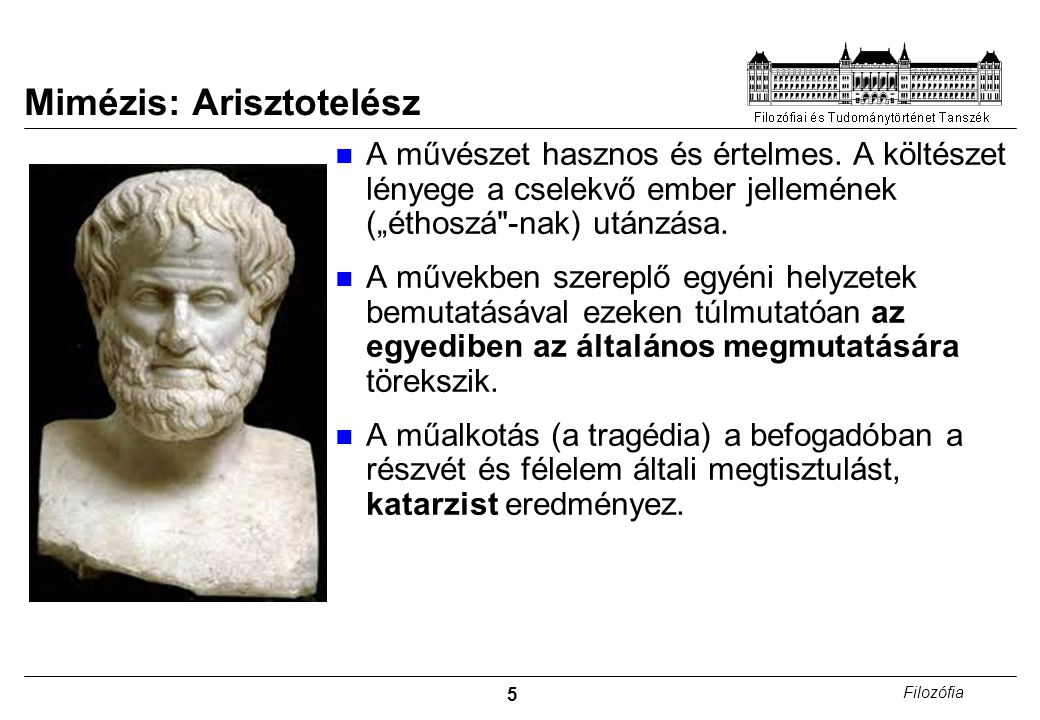 Mimézis: Arisztotelész