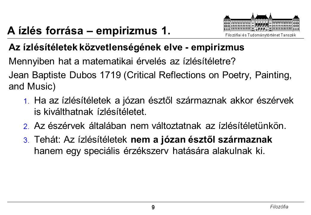 A ízlés forrása – empirizmus 1.