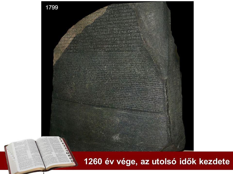 1260 év vége, az utolsó idők kezdete