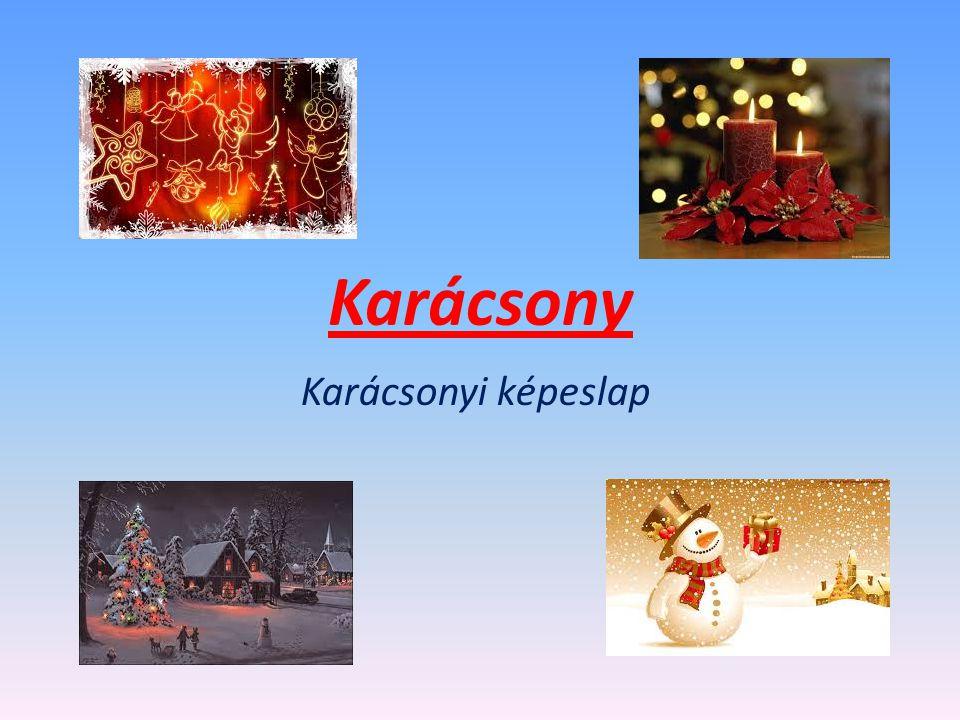 Karácsony Karácsonyi képeslap