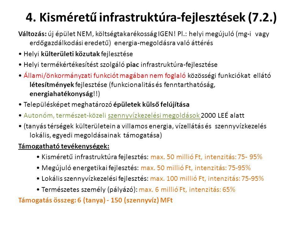 4. Kisméretű infrastruktúra-fejlesztések (7.2.)
