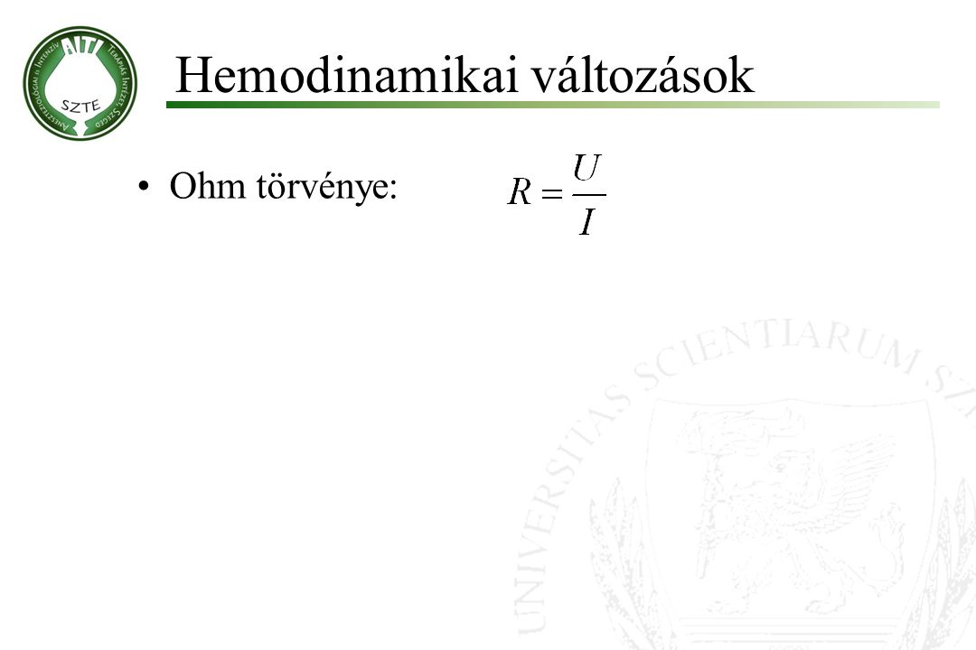 Hemodinamikai változások