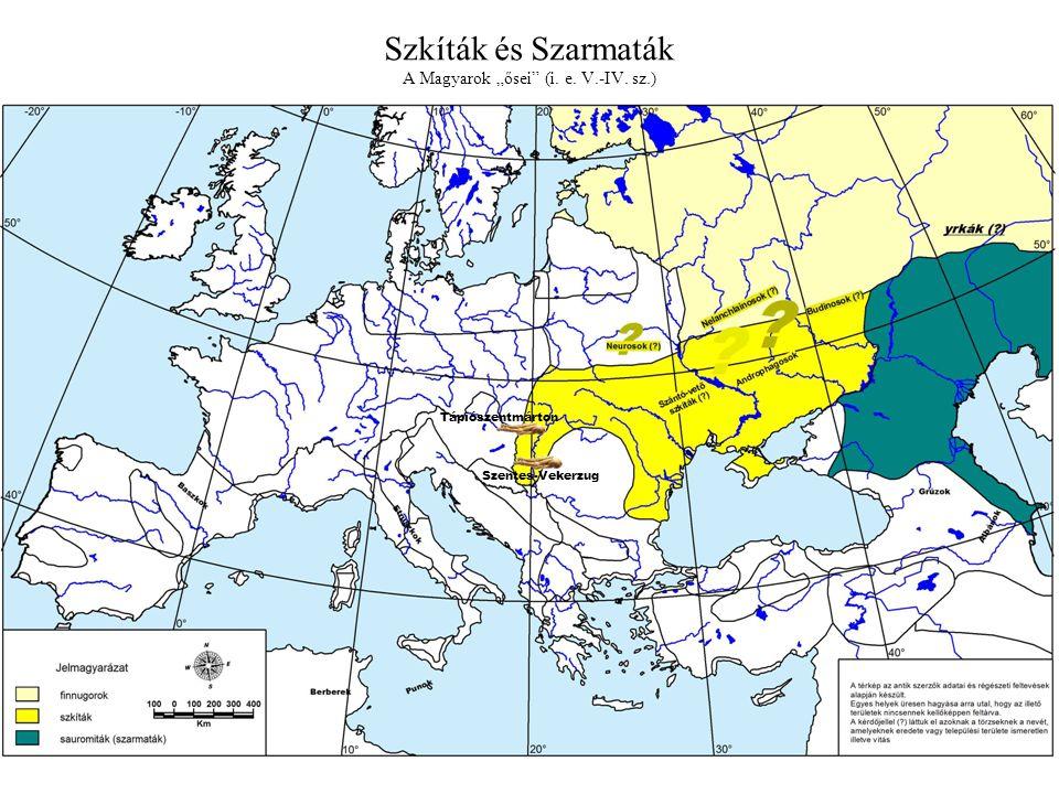 """Szkíták és Szarmaták A Magyarok """"ősei (i. e. V.-IV. sz.)"""