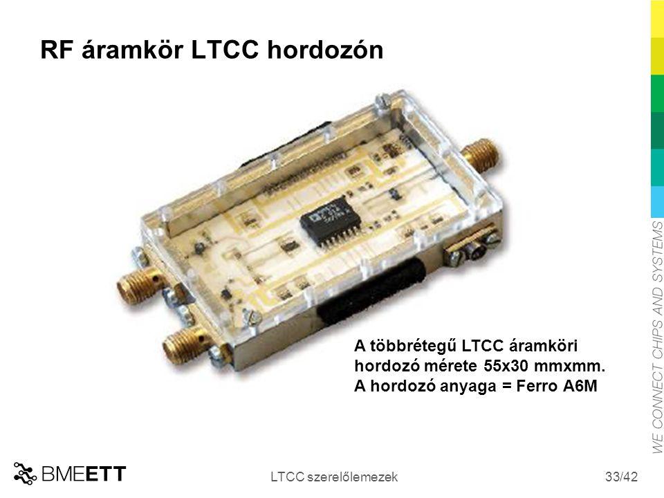 RF áramkör LTCC hordozón