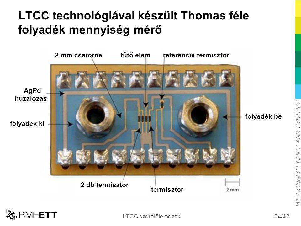 LTCC technológiával készült Thomas féle folyadék mennyiség mérő