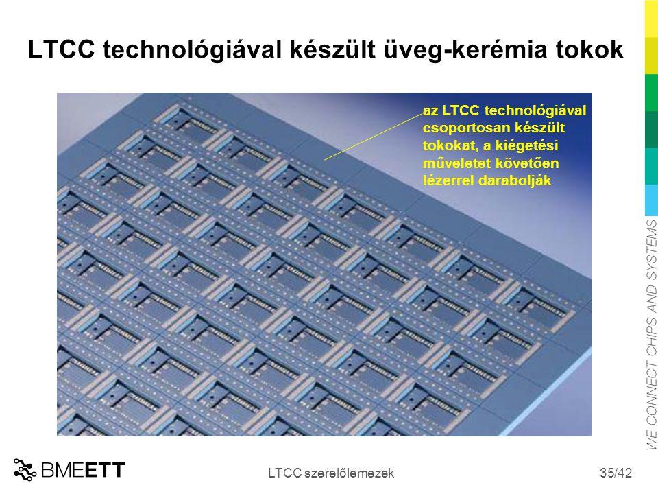 LTCC technológiával készült üveg-kerémia tokok
