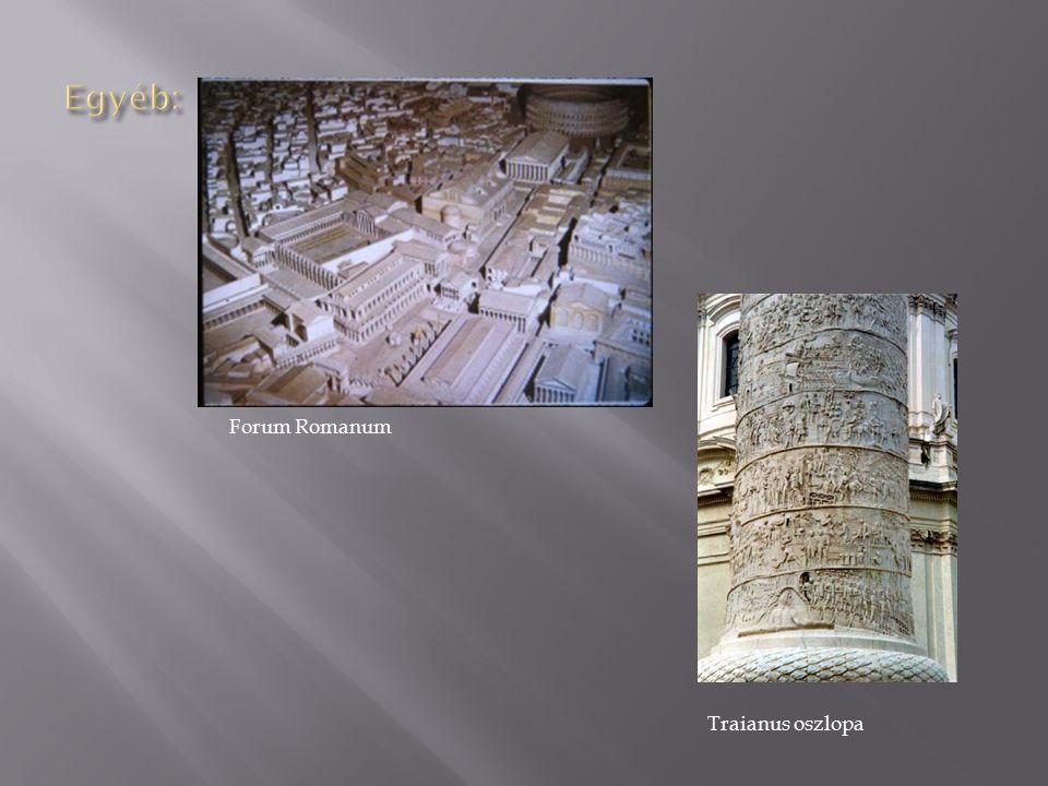 Egyéb: Forum Romanum Traianus oszlopa