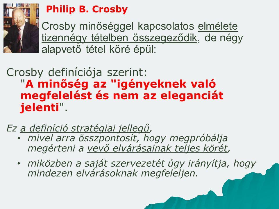 Crosby definíciója szerint:
