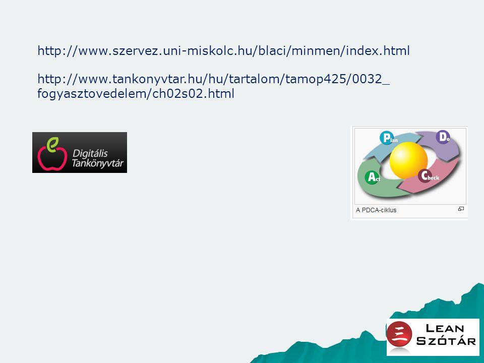 http://www.szervez.uni-miskolc.hu/blaci/minmen/index.html http://www.tankonyvtar.hu/hu/tartalom/tamop425/0032_fogyasztovedelem/ch02s02.html.
