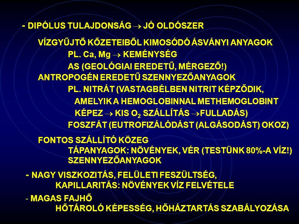 - DIPÓLUS TULAJDONSÁG  JÓ OLDÓSZER