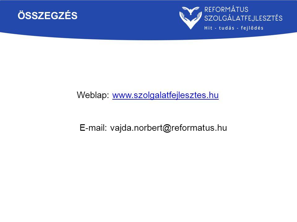 összegzés Weblap: www.szolgalatfejlesztes.hu
