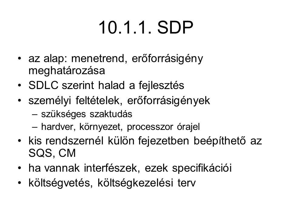10.1.1. SDP az alap: menetrend, erőforrásigény meghatározása