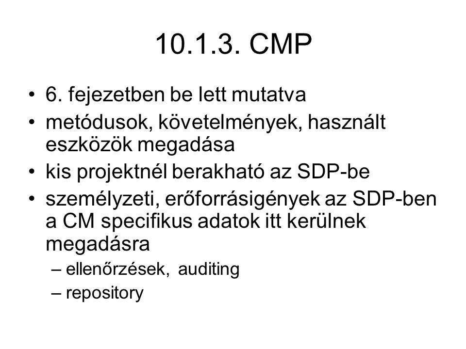 10.1.3. CMP 6. fejezetben be lett mutatva