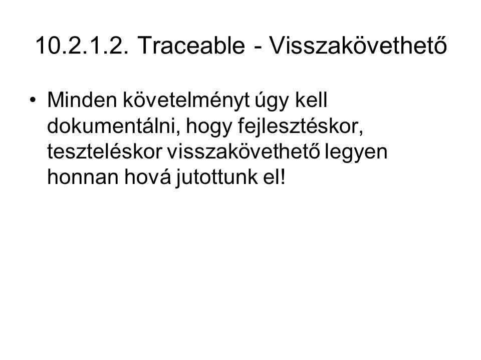 10.2.1.2. Traceable - Visszakövethető