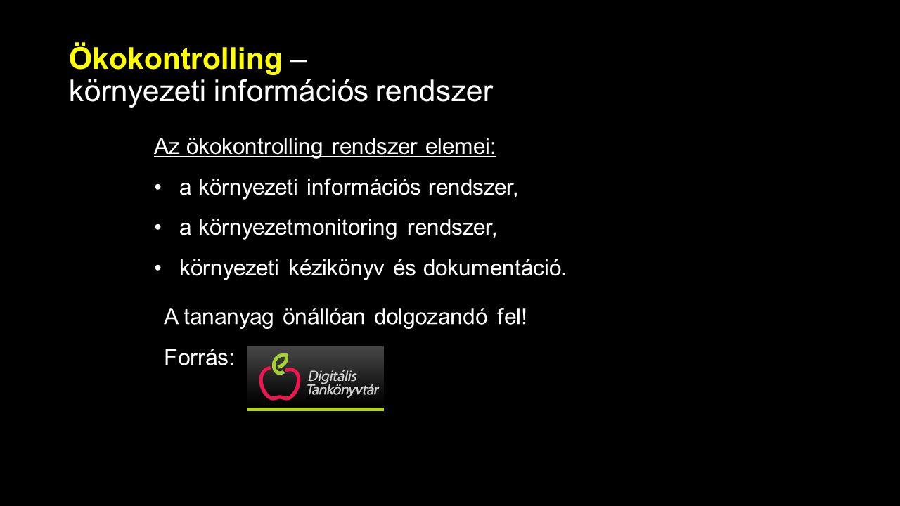 Ökokontrolling – környezeti információs rendszer