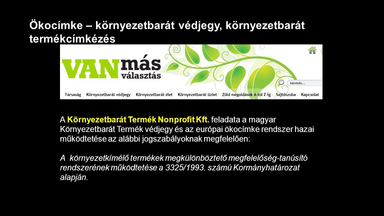 Ökocímke – környezetbarát védjegy, környezetbarát termékcímkézés