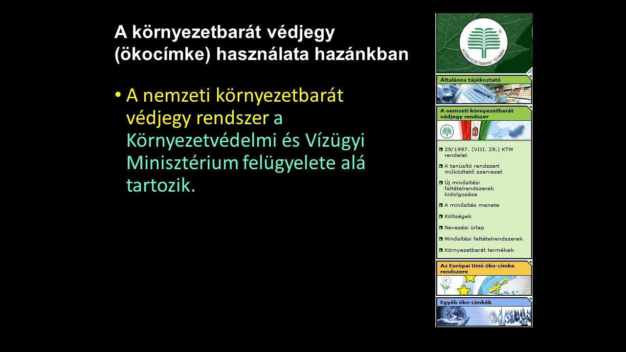 A környezetbarát védjegy (ökocímke) használata hazánkban