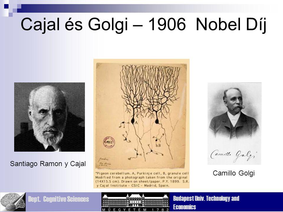 Cajal és Golgi – 1906 Nobel Díj