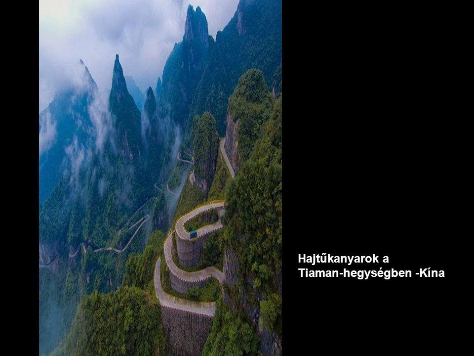 Hajtűkanyarok a Tiaman-hegységben -Kína