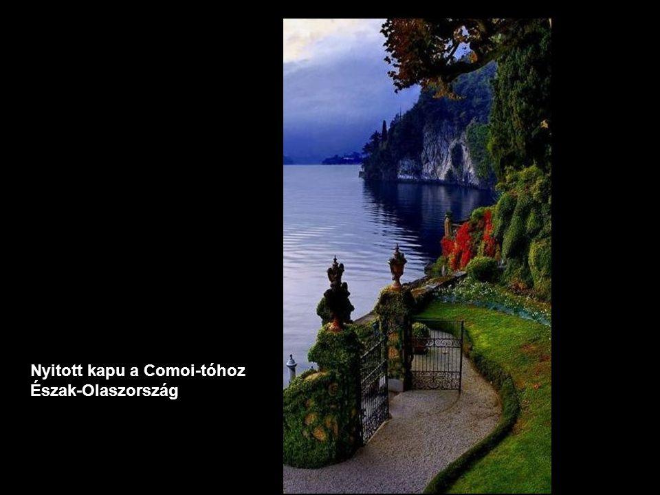 Nyitott kapu a Comoi-tóhoz