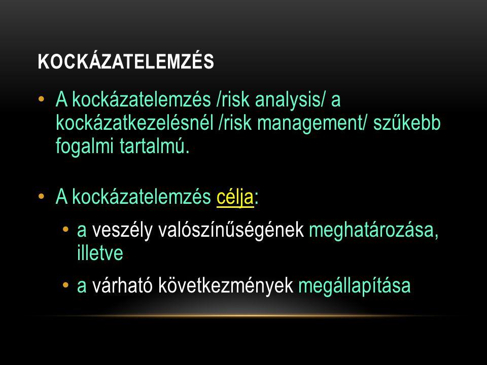 A kockázatelemzés célja: