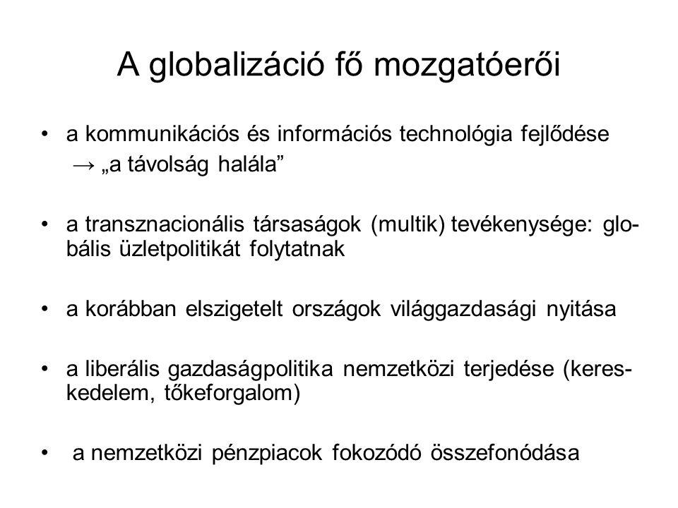 A globalizáció fő mozgatóerői