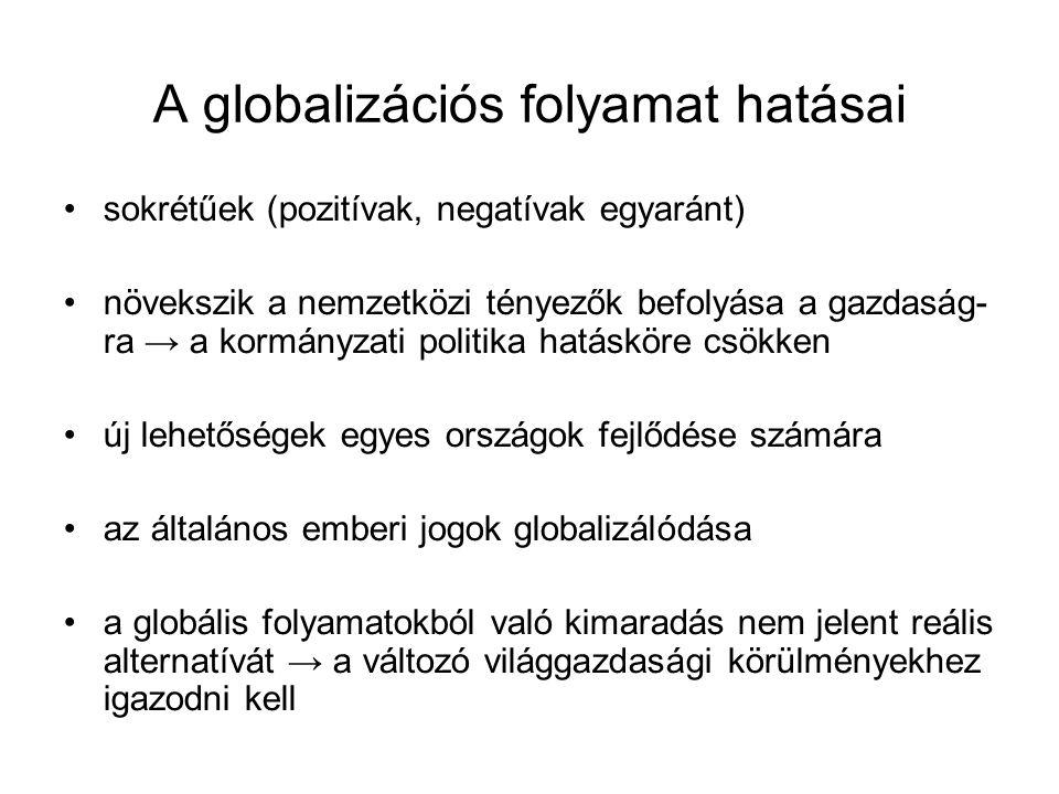 A globalizációs folyamat hatásai