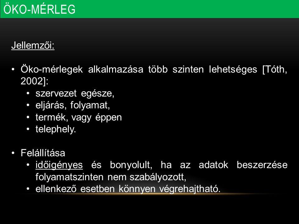 ÖKO-MÉRLEG Jellemzői: