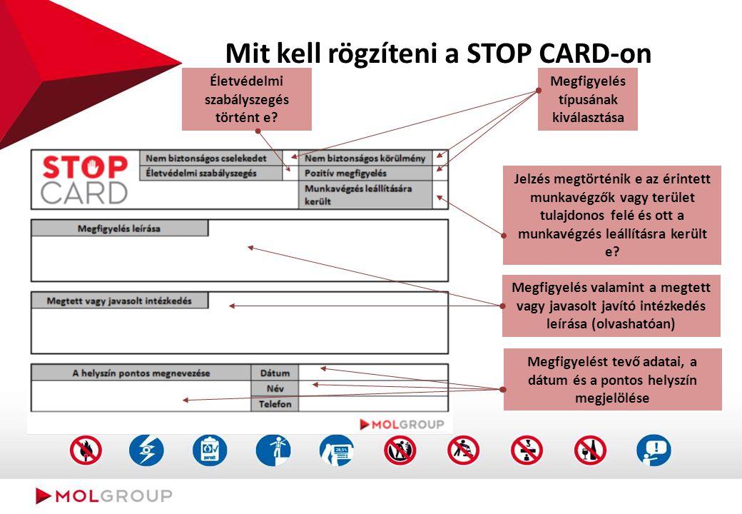 """A """"Stop CARD segítségével történő bejelentés"""