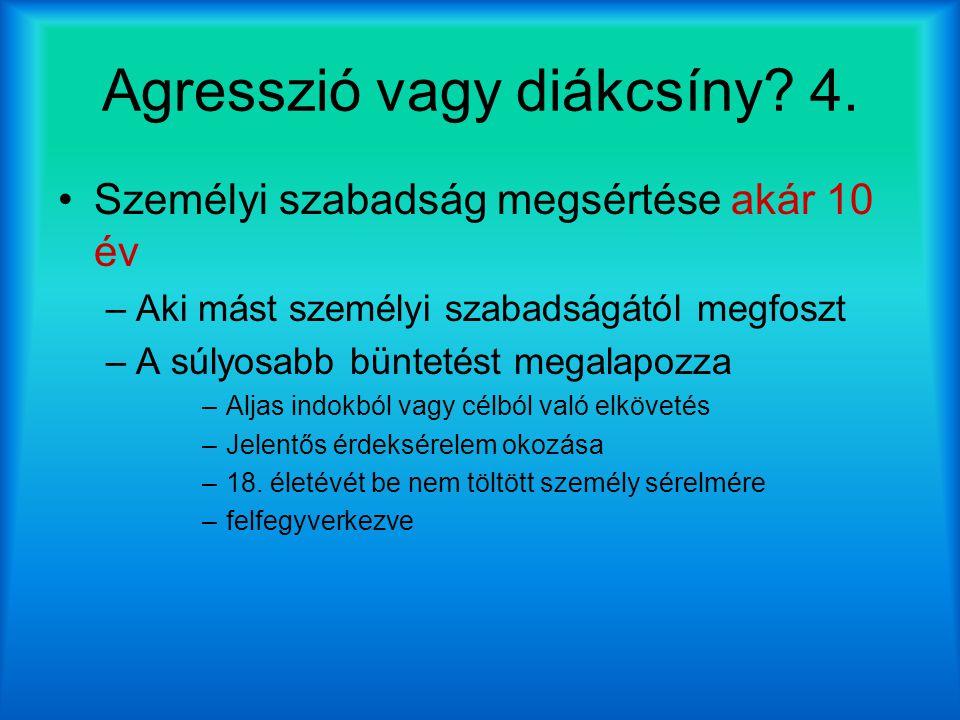 Agresszió vagy diákcsíny 4.