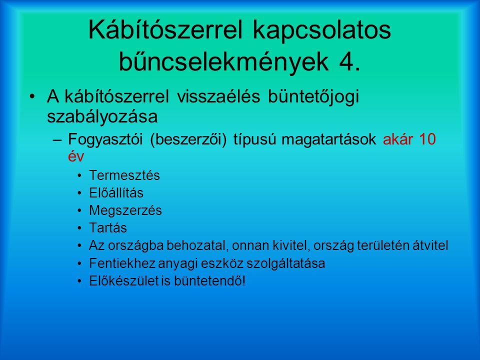 Kábítószerrel kapcsolatos bűncselekmények 4.