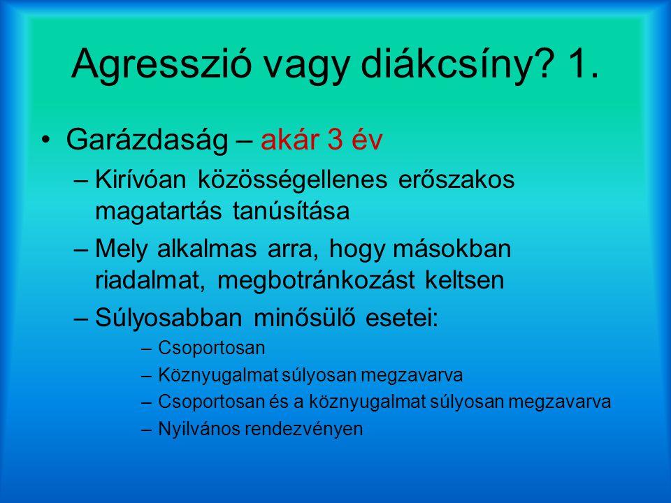 Agresszió vagy diákcsíny 1.