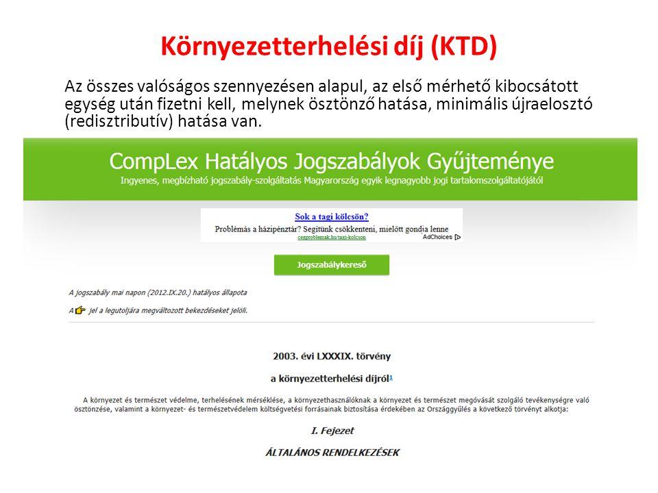 Környezetterhelési díj (KTD)