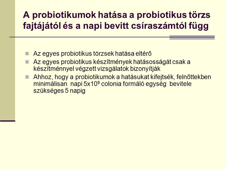 A probiotikumok hatása a probiotikus törzs fajtájától és a napi bevitt csíraszámtól függ