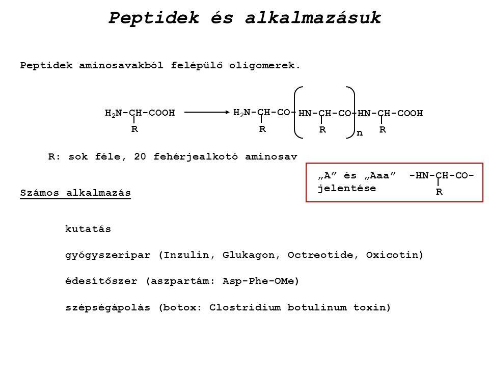 Peptidek és alkalmazásuk