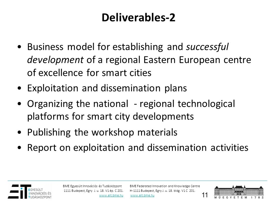 Deliverables-2 Business model for establishing and successful development of a regional Eastern European centre of excellence for smart cities.