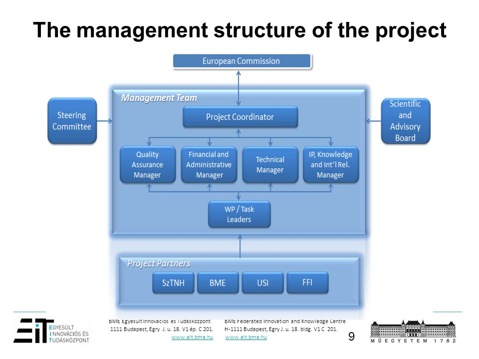 The management structure of the project