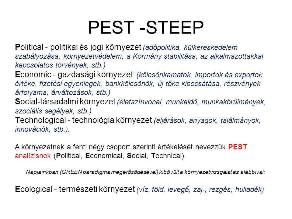 PEST -STEEP