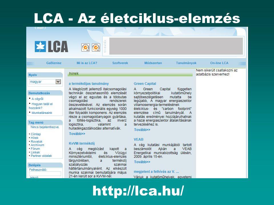 LCA - Az életciklus-elemzés