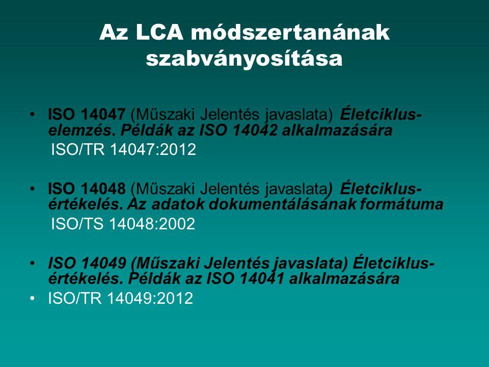 Az LCA módszertanának szabványosítása
