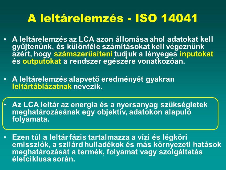 A leltárelemzés - ISO 14041
