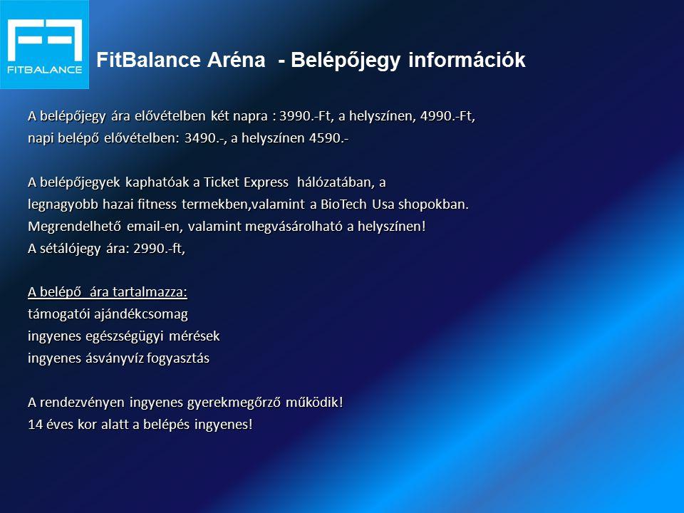 FitBalance Aréna - Belépőjegy információk