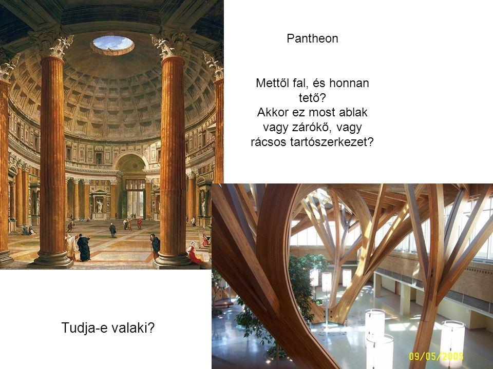 Pantheon Mettől fal, és honnan tető