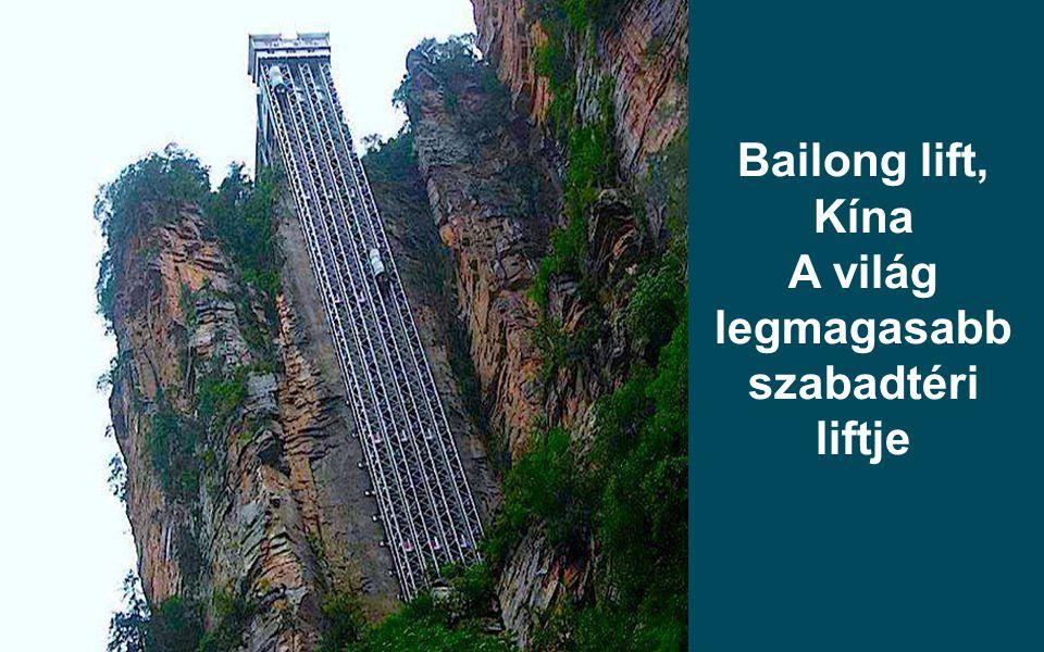 A világ legmagasabb szabadtéri liftje