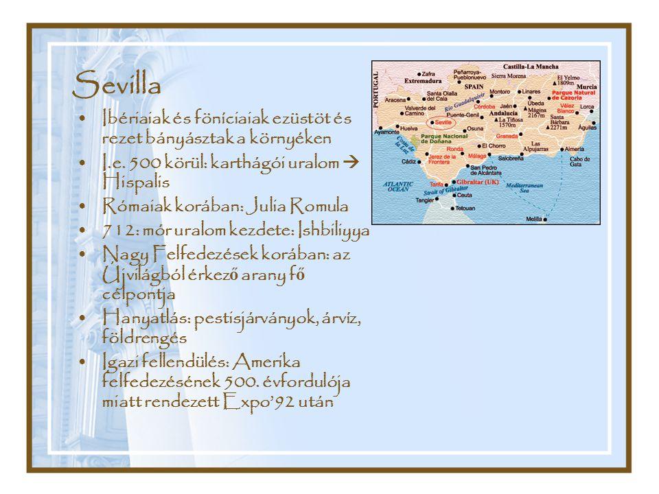 Sevilla Ibériaiak és föníciaiak ezüstöt és rezet bányásztak a környéken. I.e. 500 körül: karthágói uralom  Hispalis.
