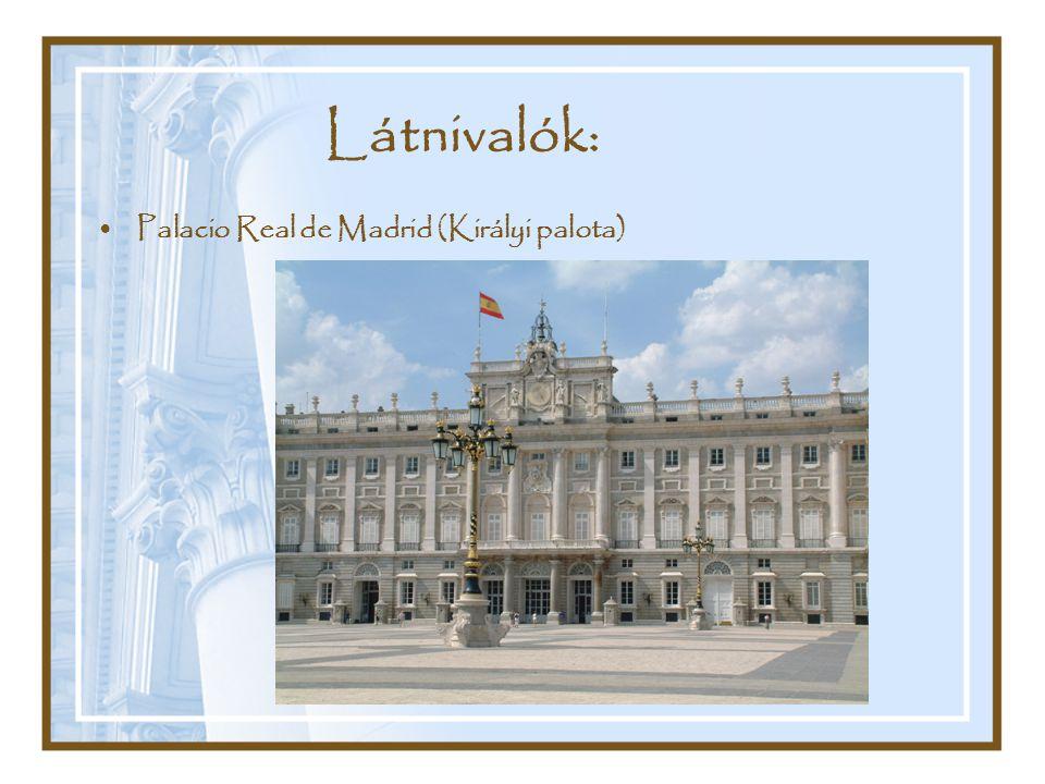 Látnivalók: Palacio Real de Madrid (Királyi palota)