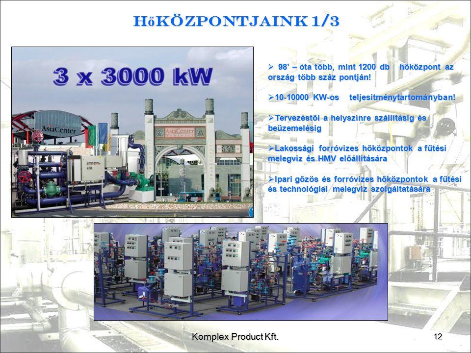 Hőközpontjaink 1/3 Komplex Product Kft.